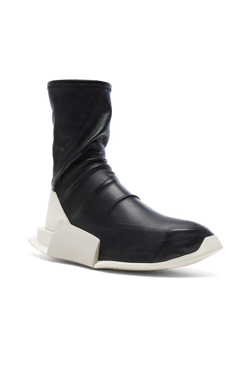 Image 1 of Rick Owens x Adidas Level Stretch Leather Socks in Black