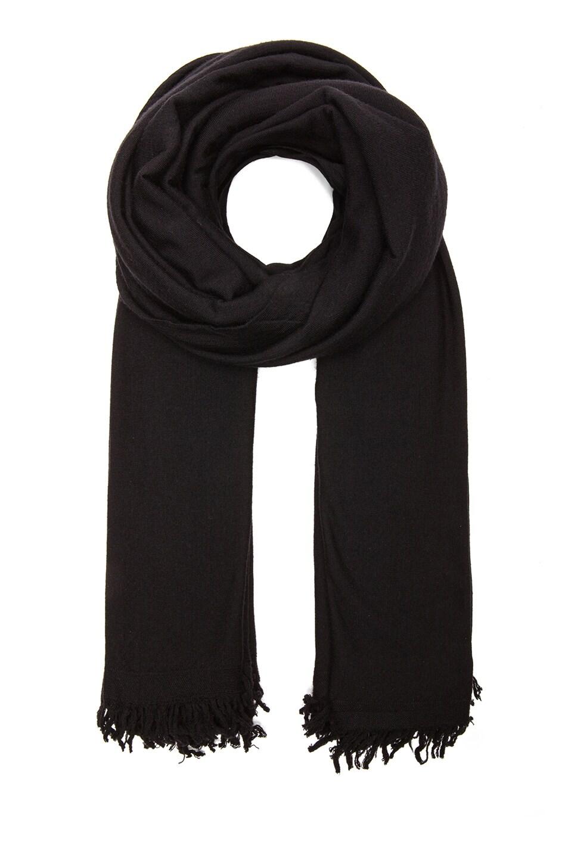 Image 1 of Rick Owens Merino Wool Blanket Scarf in Black