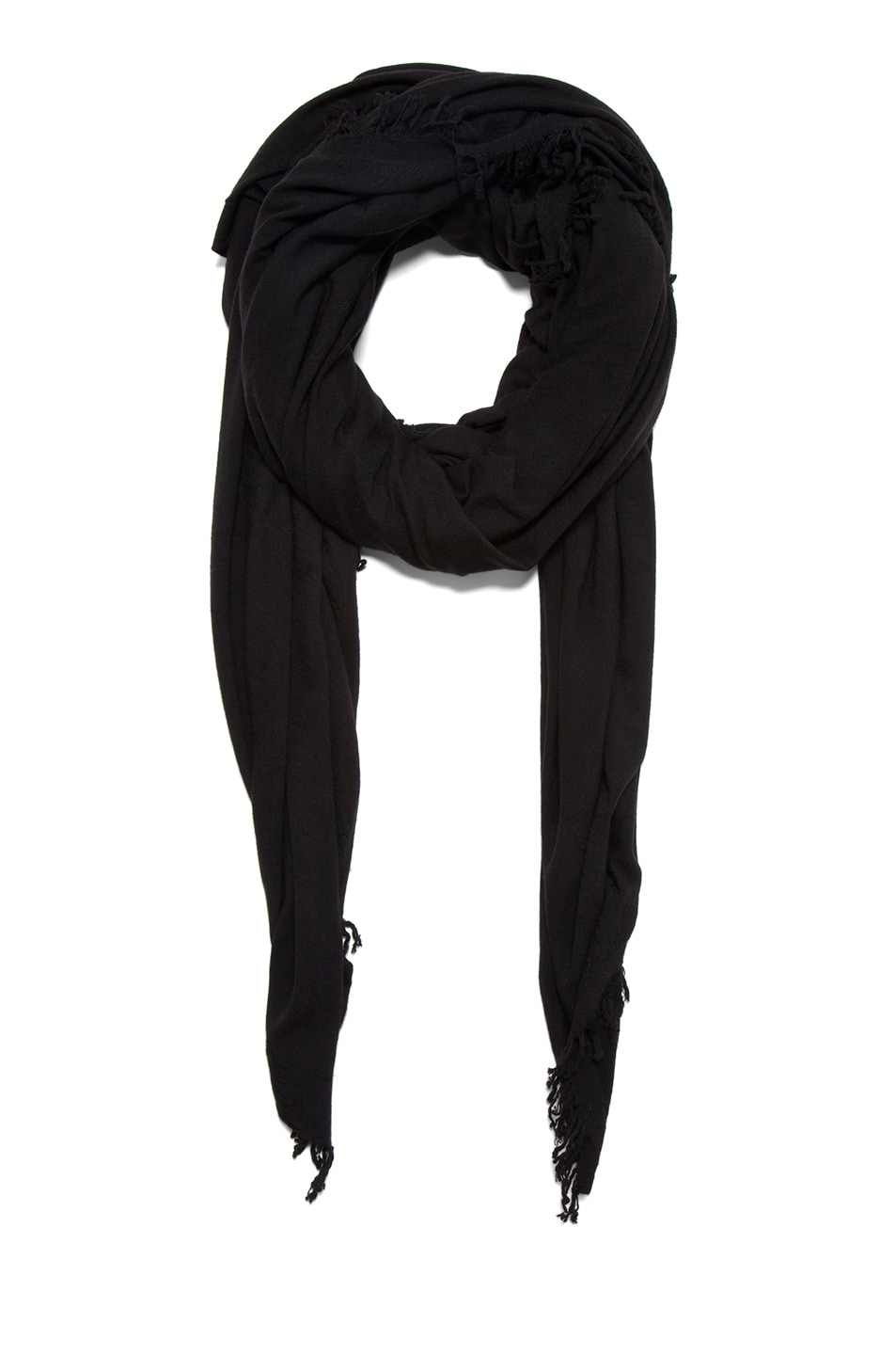 Image 1 of Rick Owens Blanket Scarf in Black