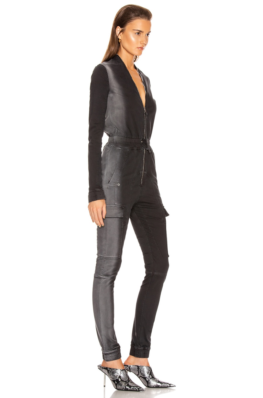 Image 2 of Rick Owens Cargo Jumpsuit in Black