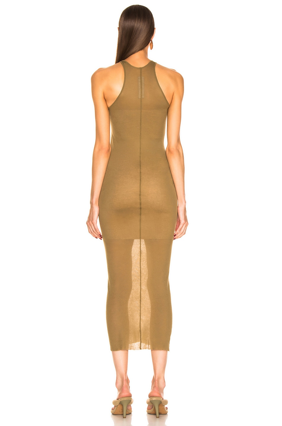 Image 3 of Rick Owens Tank Dress in Mustard