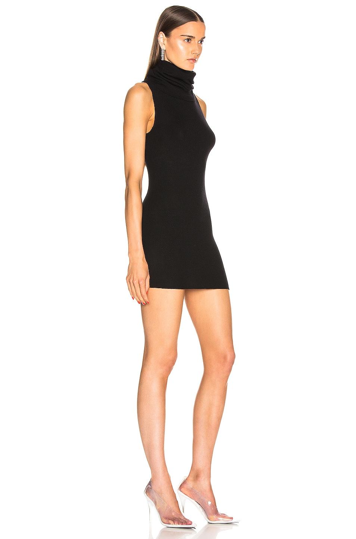 Image 2 of Rick Owens Ribbed Sleeveless Tube Dress in Black