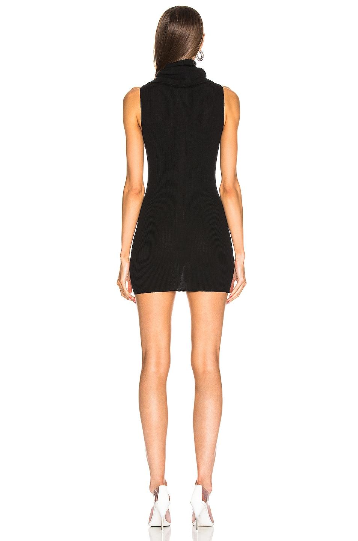 Image 3 of Rick Owens Ribbed Sleeveless Tube Dress in Black