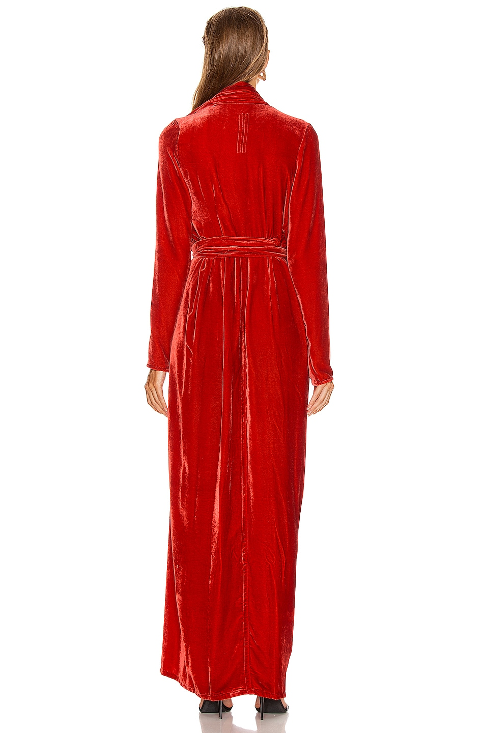 Image 5 of Rick Owens Wrap Long Sleeve Gown in Cardinal Red