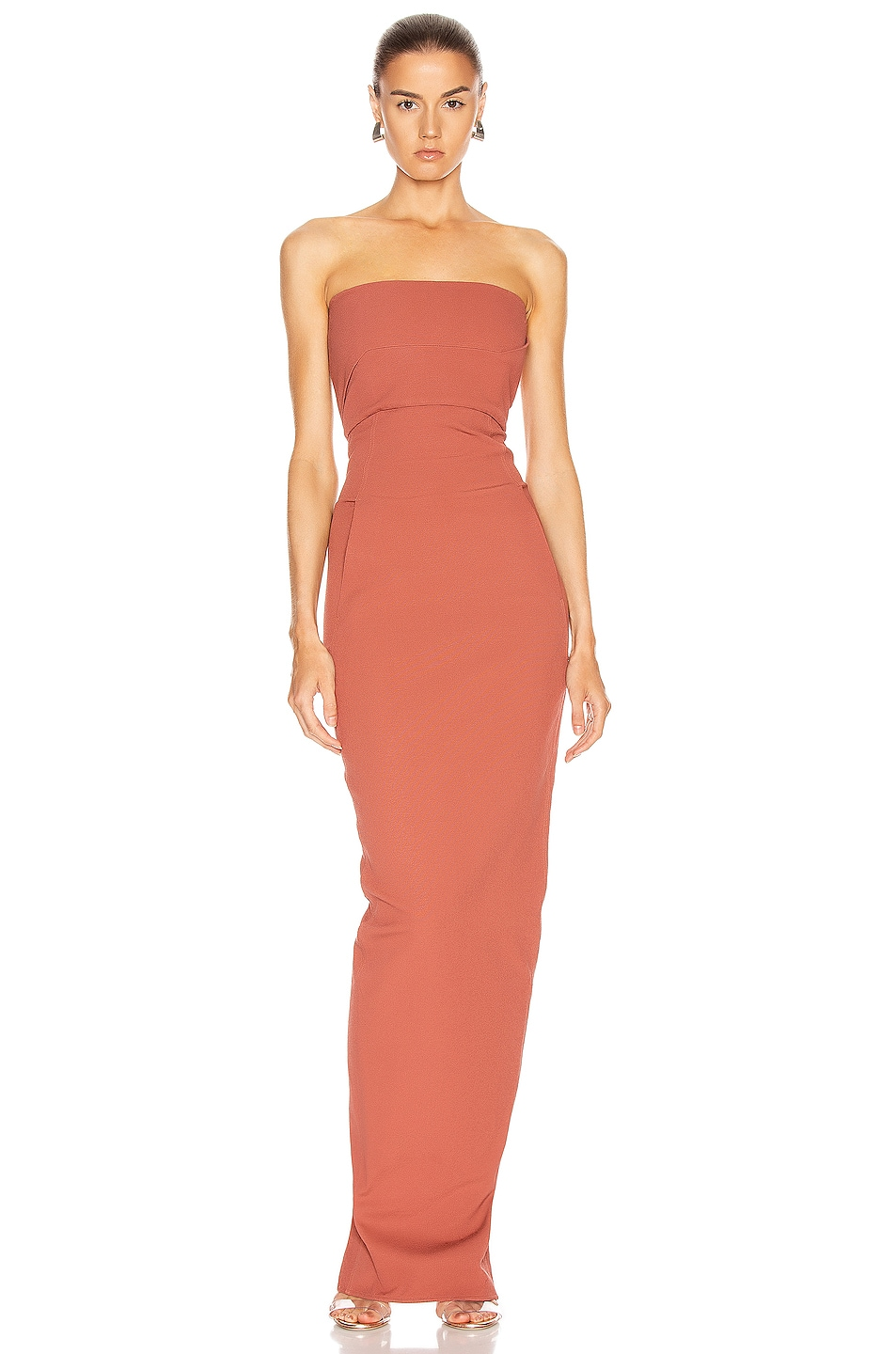Image 1 of Rick Owens Bustier Gown in Burnt Pink
