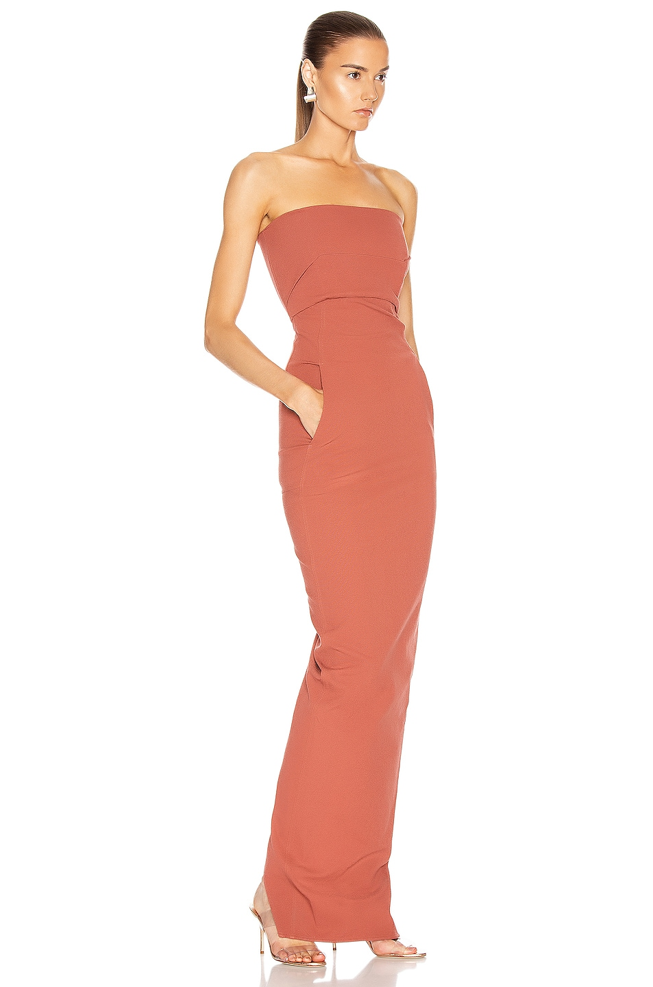 Image 2 of Rick Owens Bustier Gown in Burnt Pink