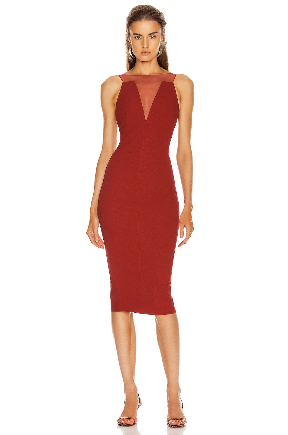 Image 1 of Rick Owens Prong Dress in Cardinal Red