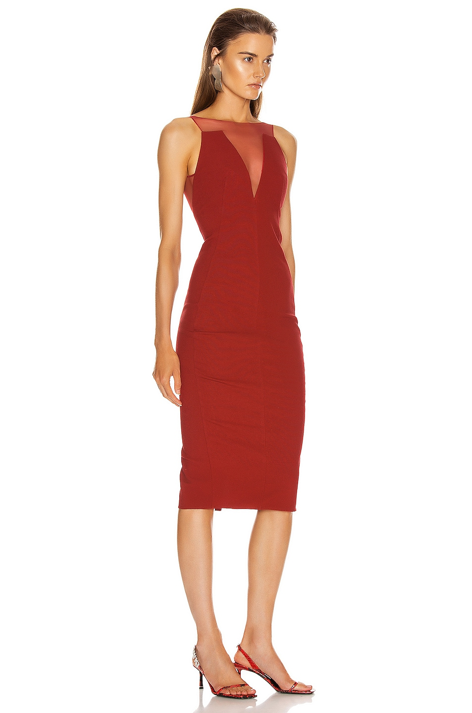 Image 2 of Rick Owens Prong Dress in Cardinal Red