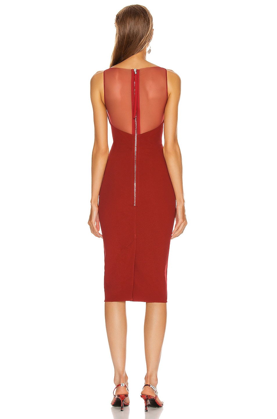 Image 3 of Rick Owens Prong Dress in Cardinal Red