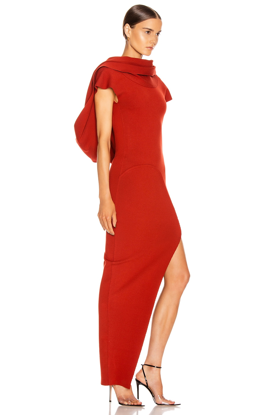 Image 3 of Rick Owens Theresa Dress in Cherry