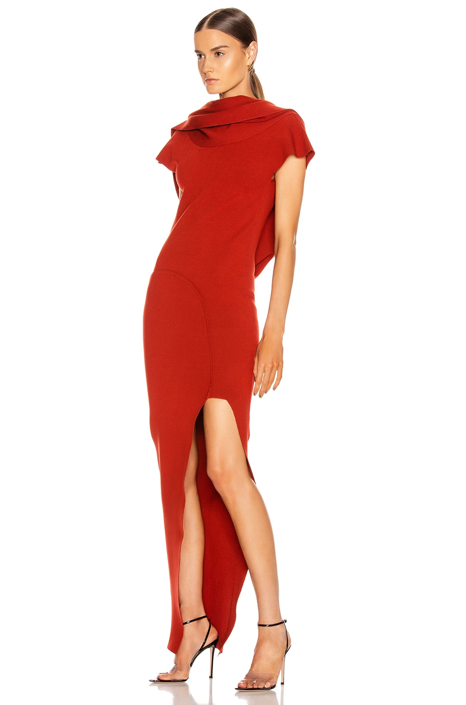 Image 4 of Rick Owens Theresa Dress in Cherry