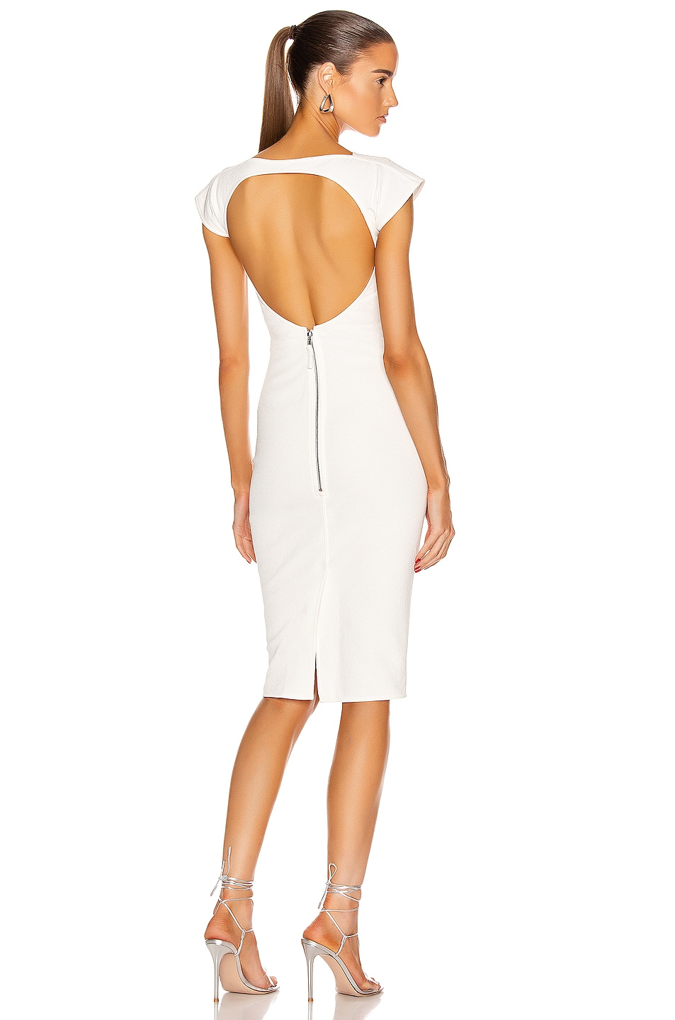 Image 1 of Rick Owens Easy Sarah Dress in Chalk White