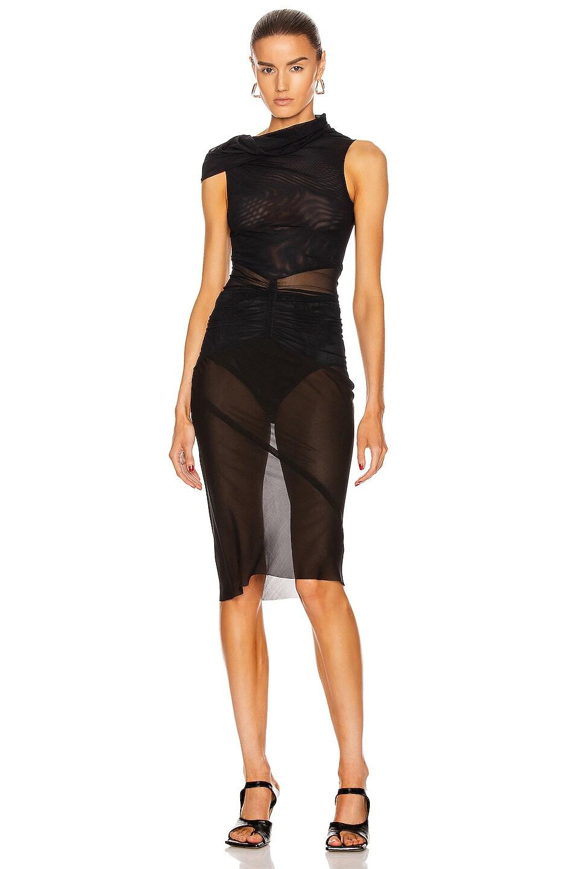Image 1 of Rick Owens Dustulator Dress in Black