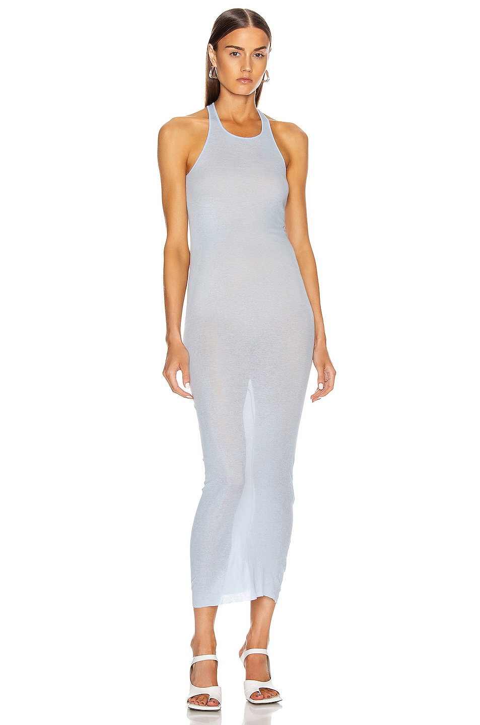 Image 1 of Rick Owens Tank Dress in Powder Blue