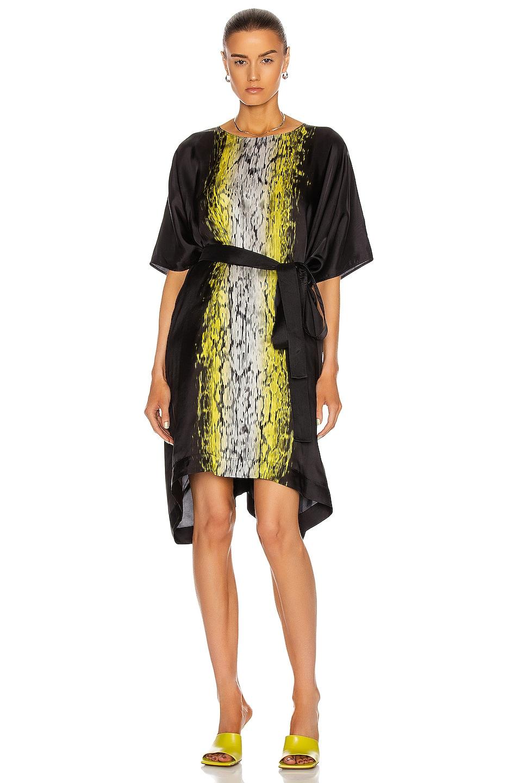 Image 1 of Rick Owens Minverva Mini Dress in Black & Acid Print
