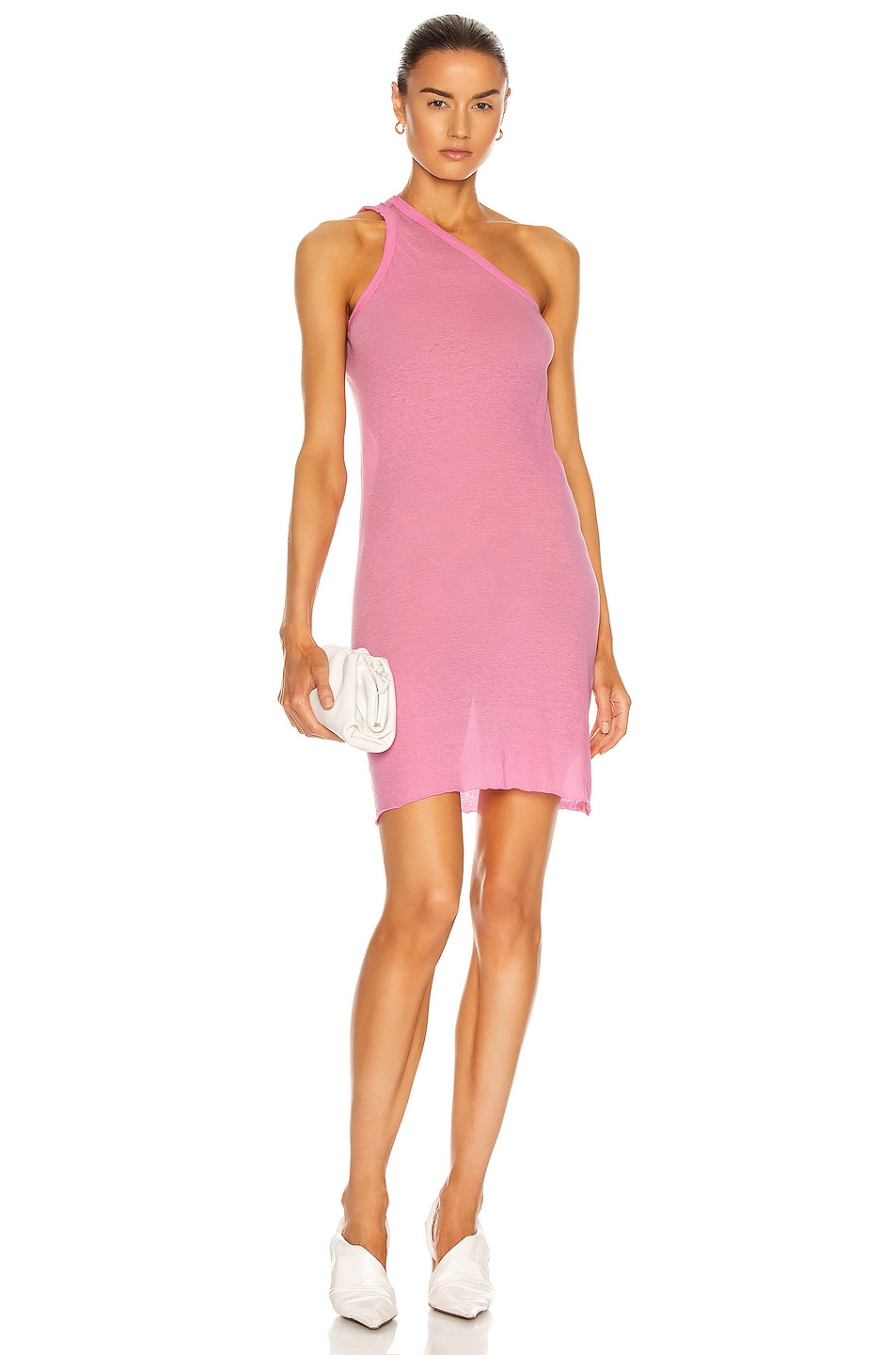 Image 1 of Rick Owens Anthem Tank Dress in Pop Pink