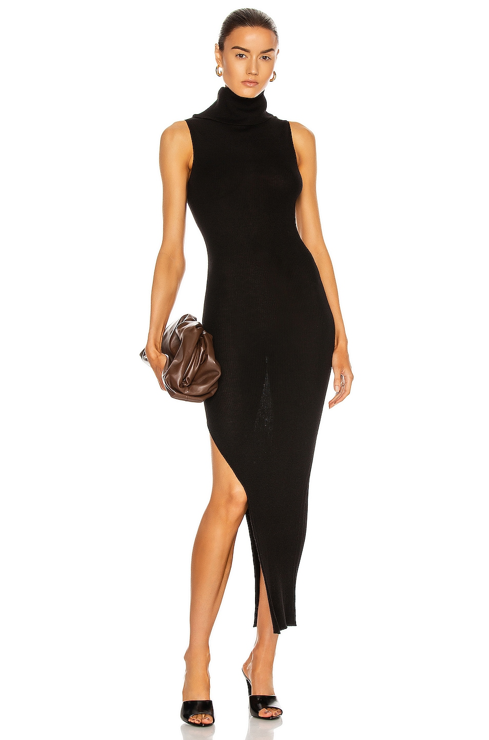 Image 1 of Rick Owens Sleeveless Cowl Neck Dress in Black