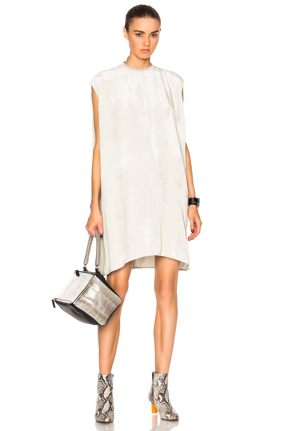 Image 1 of Rick Owens Velvet Audrey Tunic in Pearl