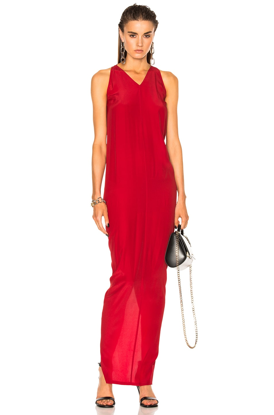 Image 1 of Rick Owens Moody Tank Gown in Red