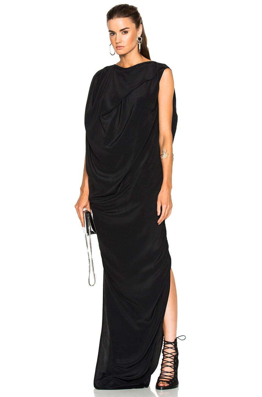 Image 1 of Rick Owens Egret Dress in Black