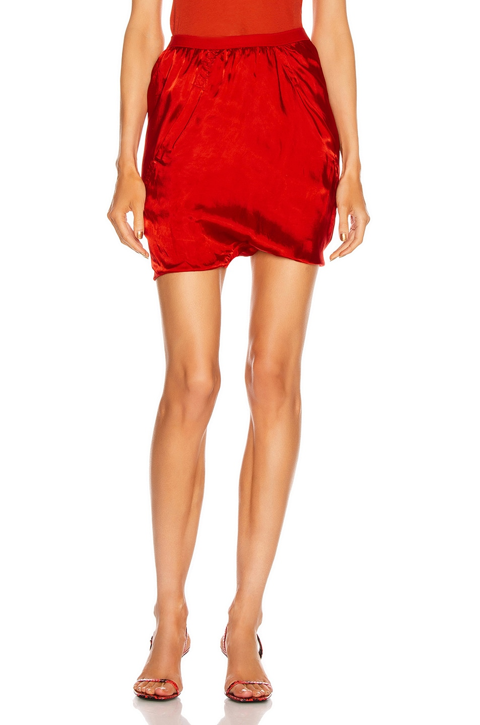 Image 1 of Rick Owens Bias Buds Shorts in Cardinal Red