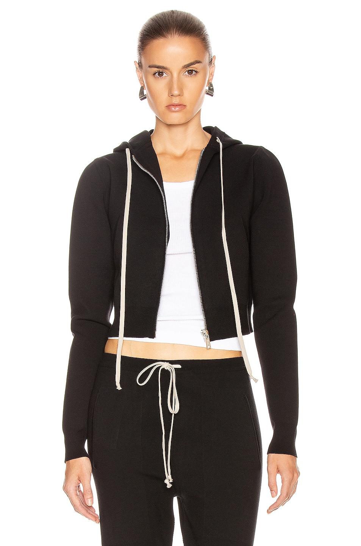 Image 1 of Rick Owens Zipped Hoodie in Black