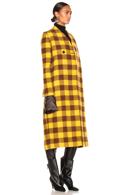 Image 4 of Rick Owens Museum Coat in Raisin