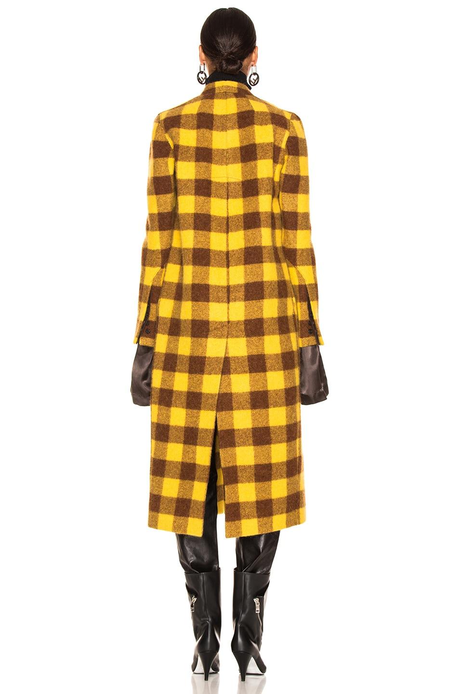 Image 5 of Rick Owens Museum Coat in Raisin