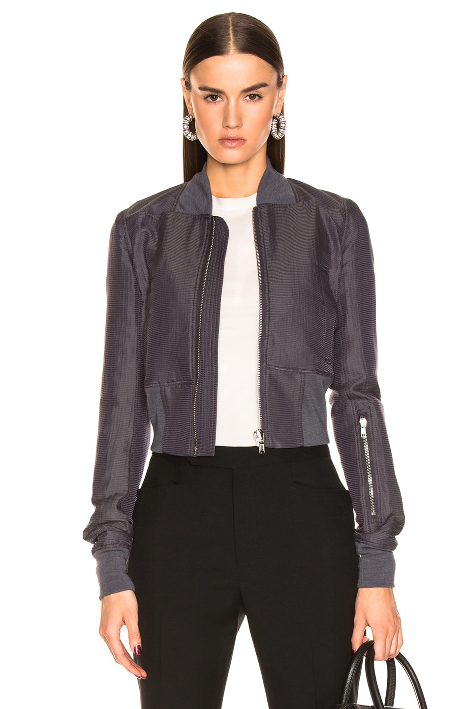 Image 1 of Rick Owens Ribwaist Bomber in Blujay
