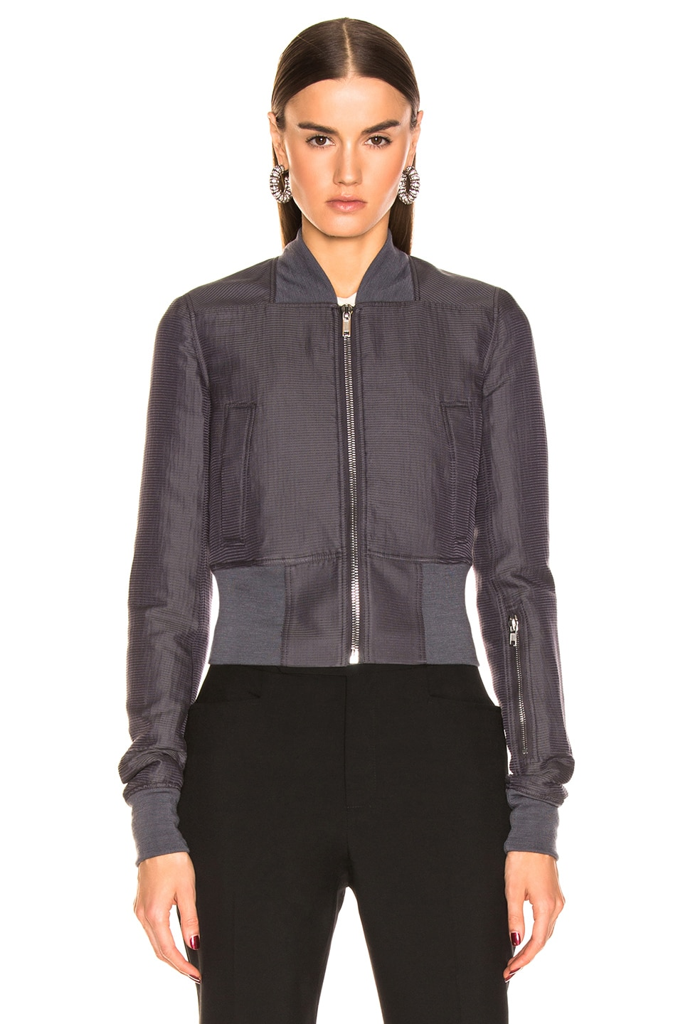 Image 2 of Rick Owens Ribwaist Bomber in Blujay