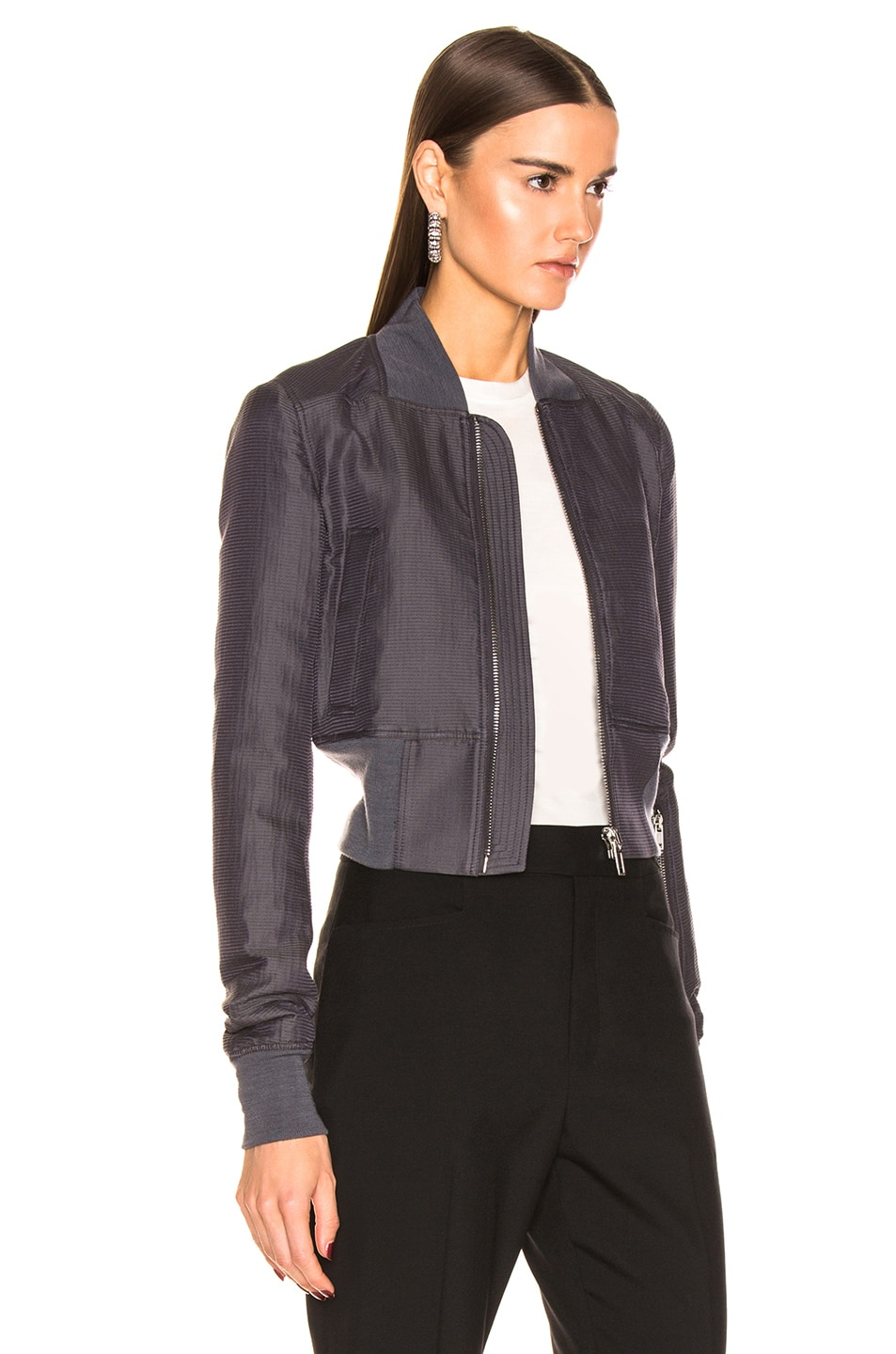Image 3 of Rick Owens Ribwaist Bomber in Blujay