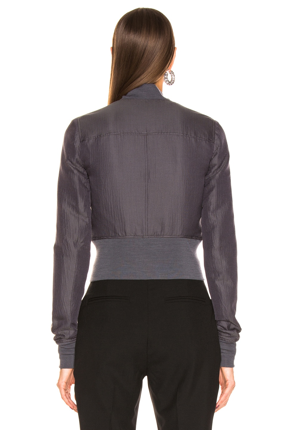 Image 4 of Rick Owens Ribwaist Bomber in Blujay