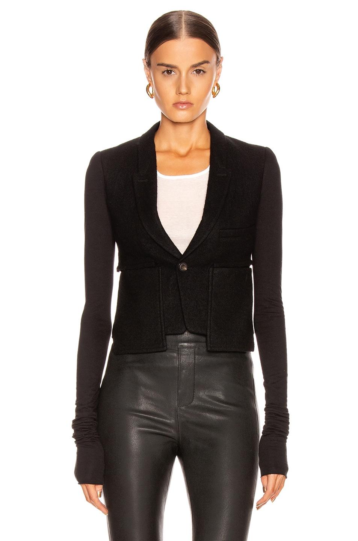 Image 1 of Rick Owens Alice Blazer Jacket in Black
