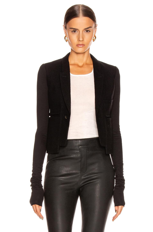 Image 2 of Rick Owens Alice Blazer Jacket in Black