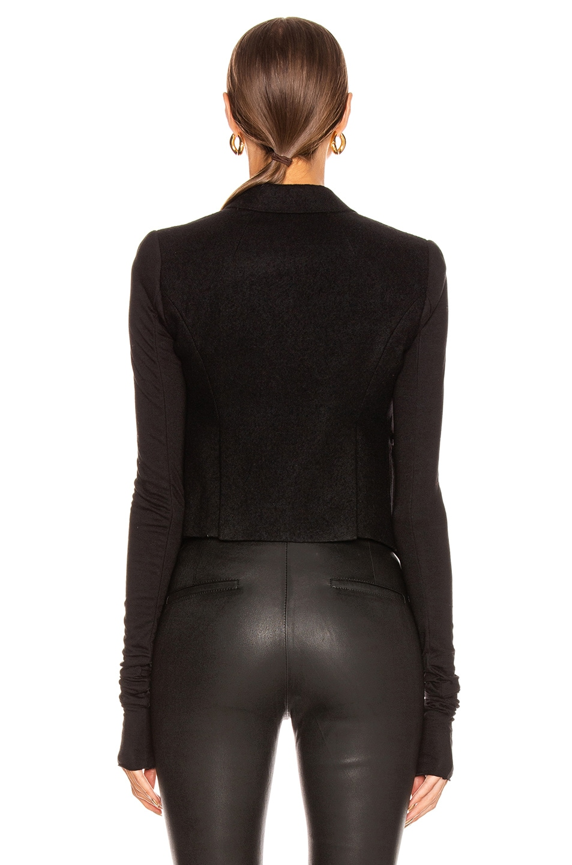 Image 4 of Rick Owens Alice Blazer Jacket in Black