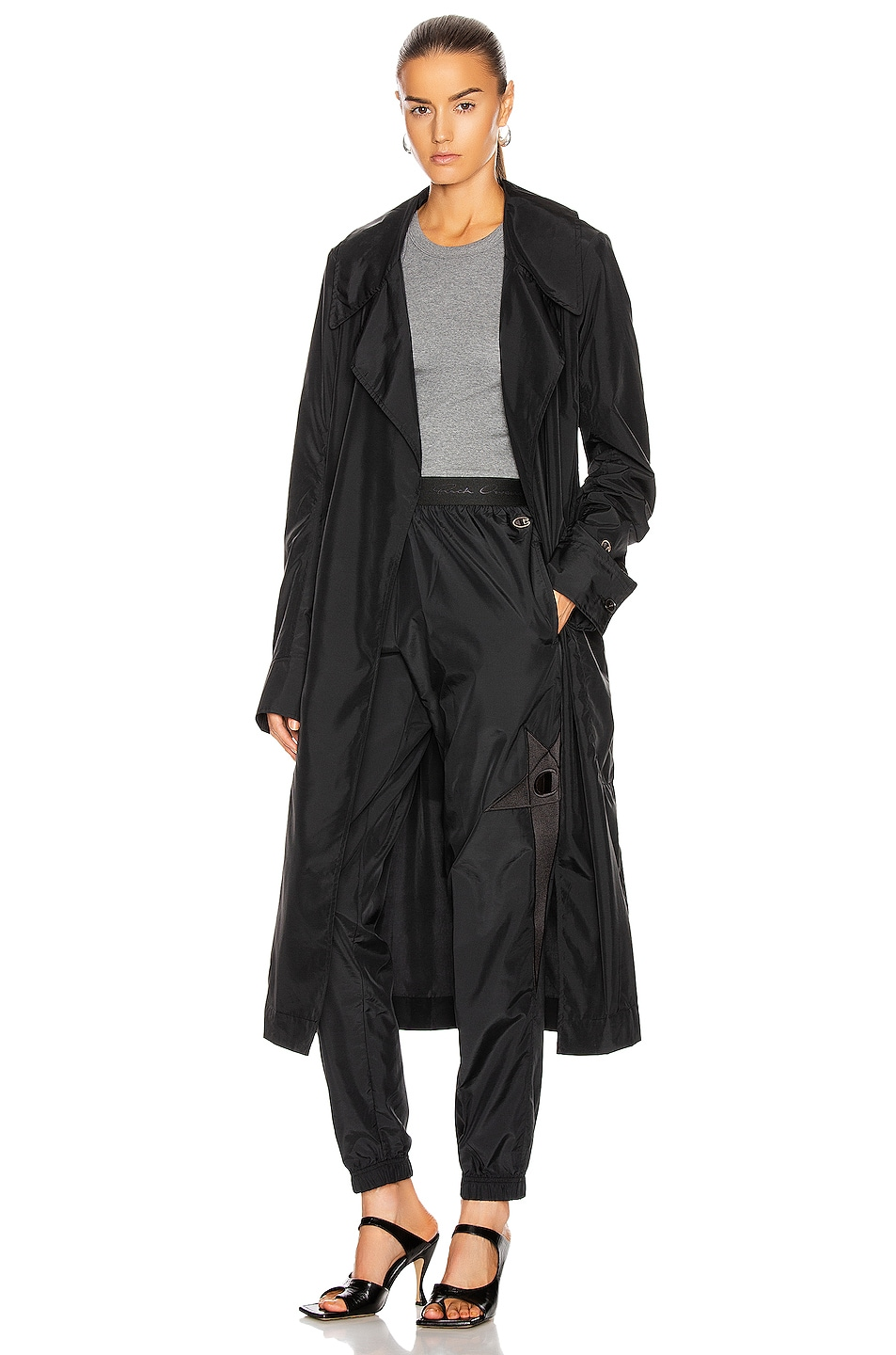 Image 1 of Rick Owens x Champion Trench Coat in Black
