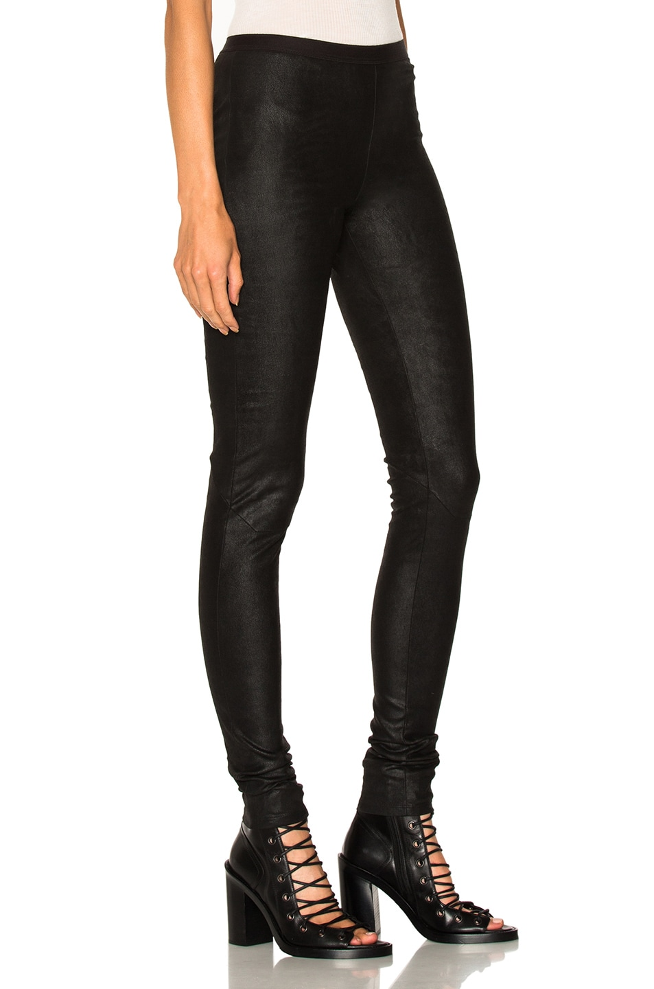 Image 2 of Rick Owens Leather Legging in Black