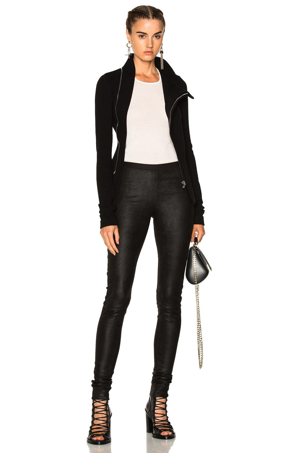 Image 4 of Rick Owens Leather Legging in Black
