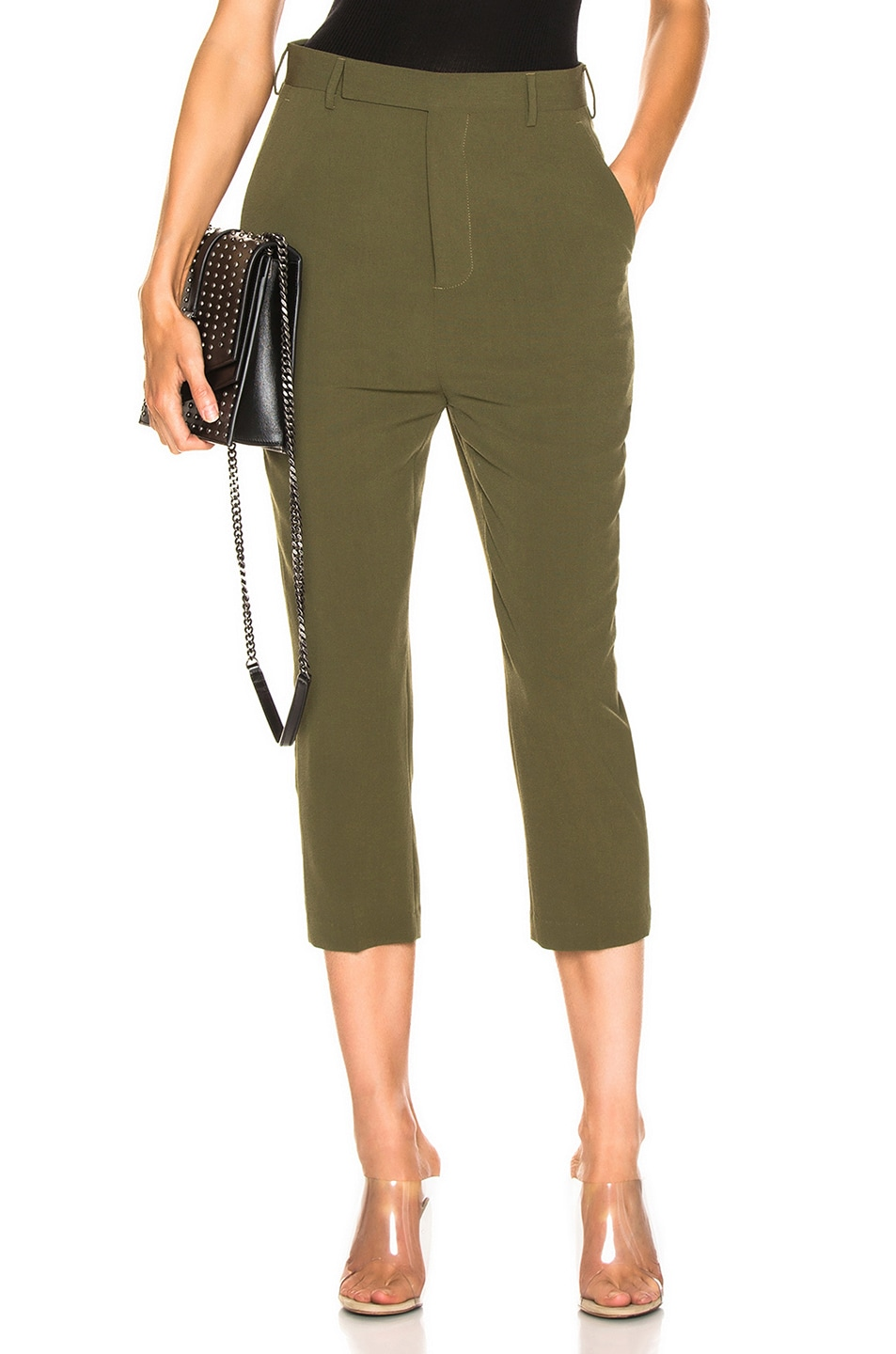 67f107ce256a Image 1 of Rick Owens Easy Astaires Pant in Dirty Green