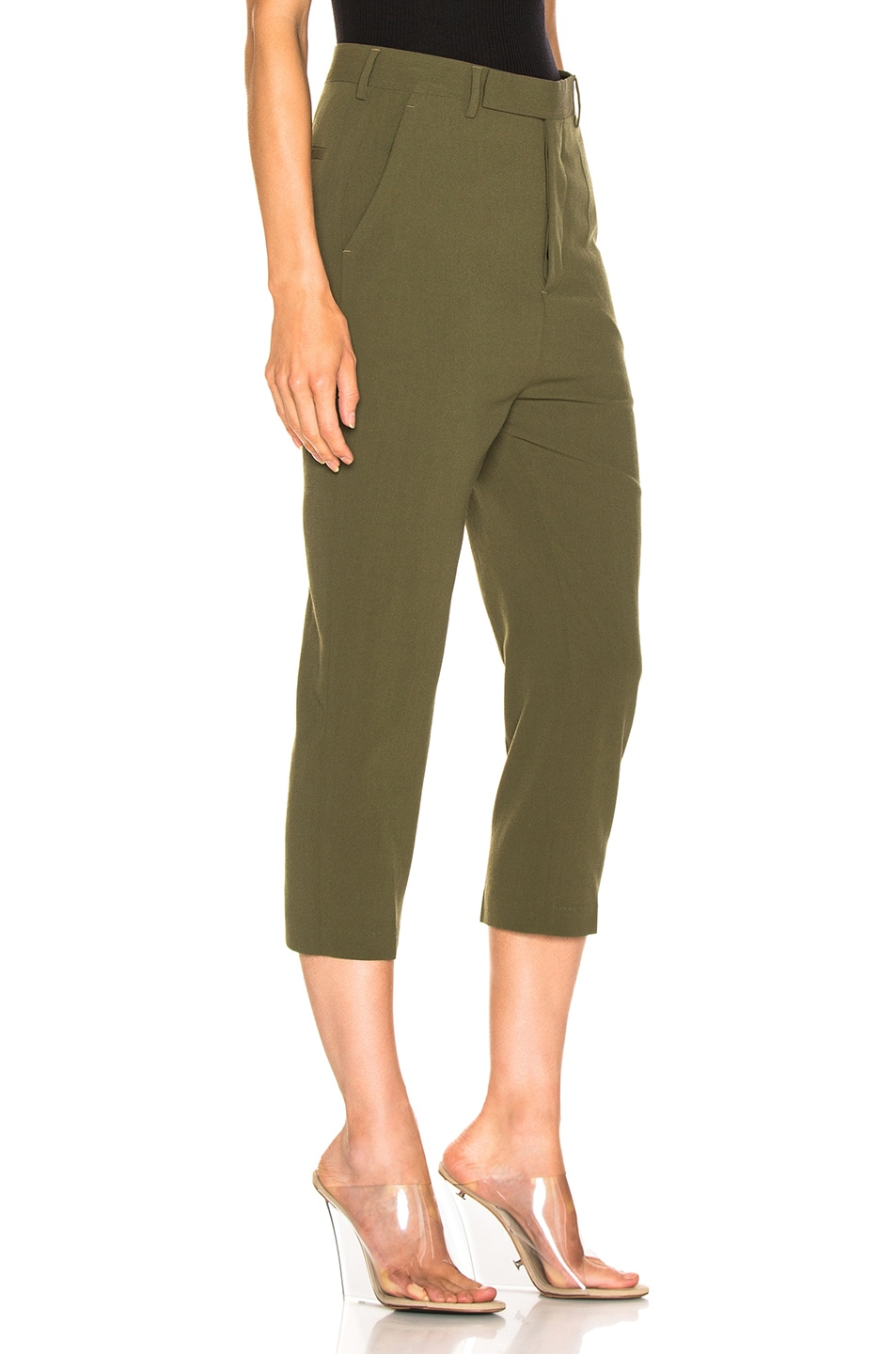 Image 2 of Rick Owens Easy Astaires Pant in Dirty Green