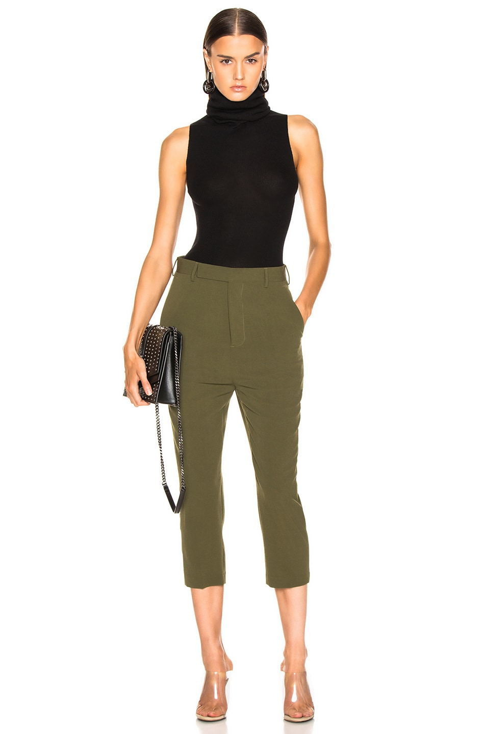 Image 4 of Rick Owens Easy Astaires Pant in Dirty Green