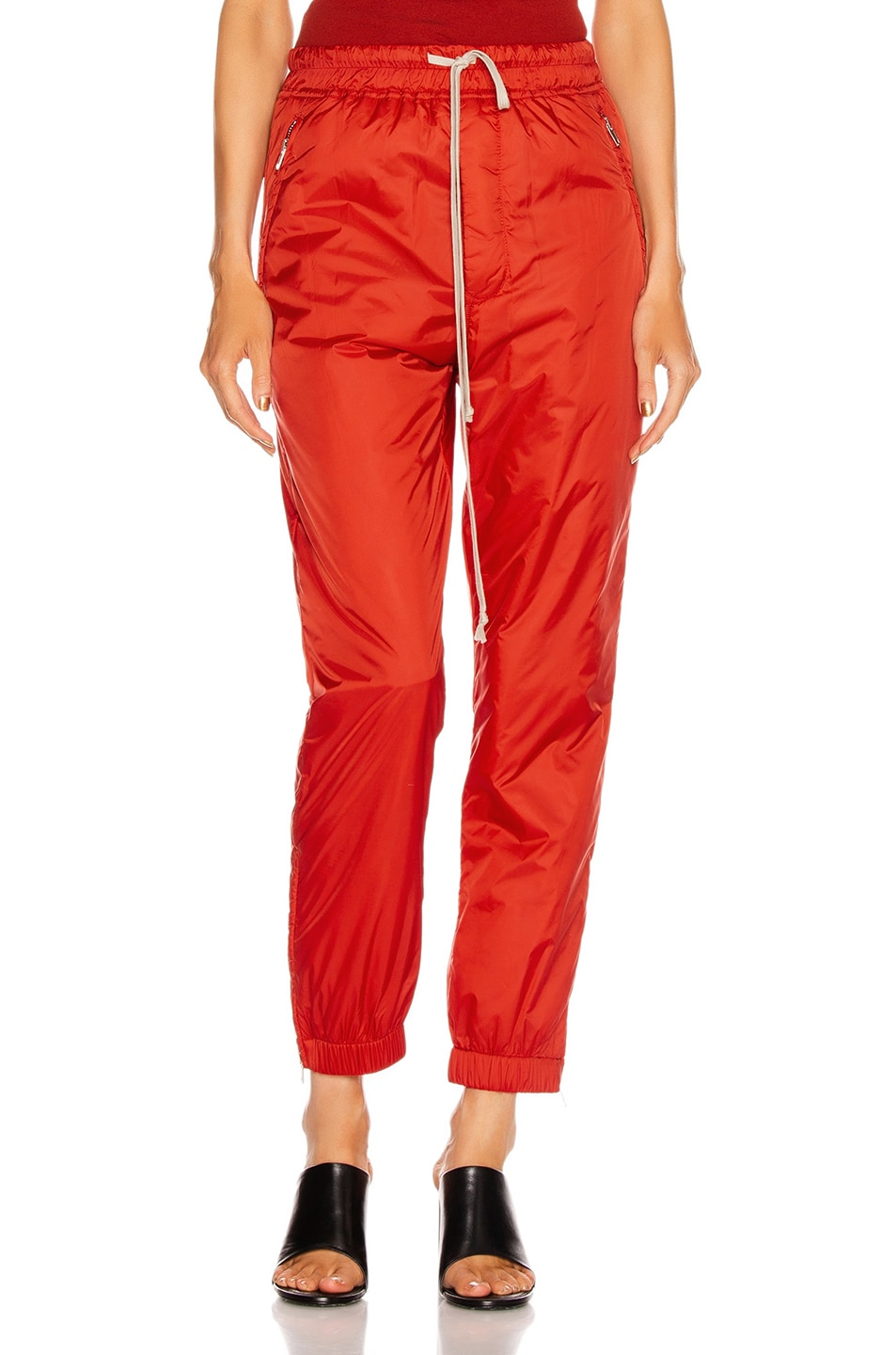 Image 1 of Rick Owens Track Pant in Cardinal Red