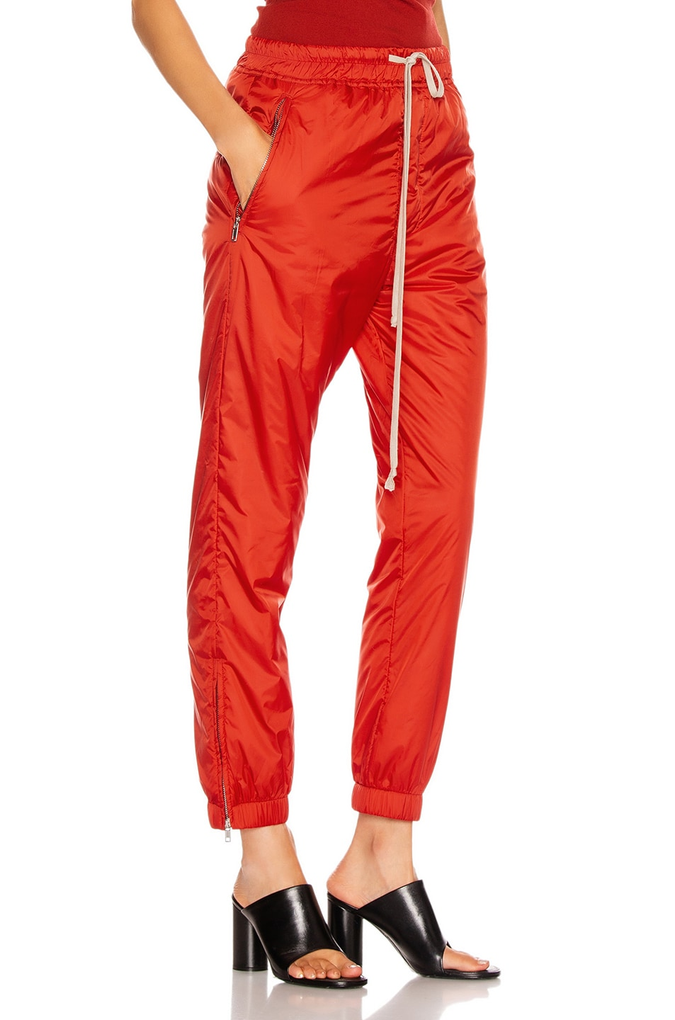 Image 2 of Rick Owens Track Pant in Cardinal Red