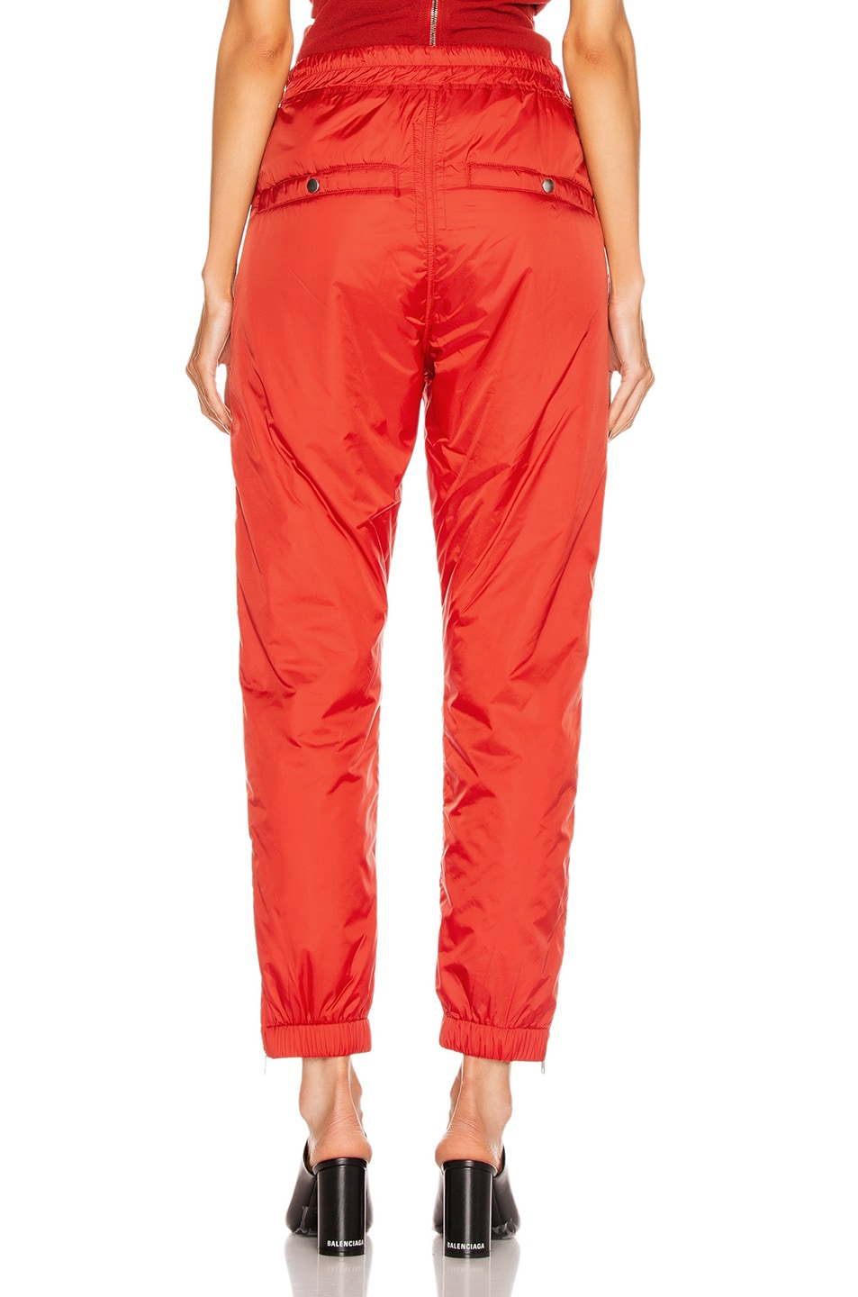 Image 3 of Rick Owens Track Pant in Cardinal Red