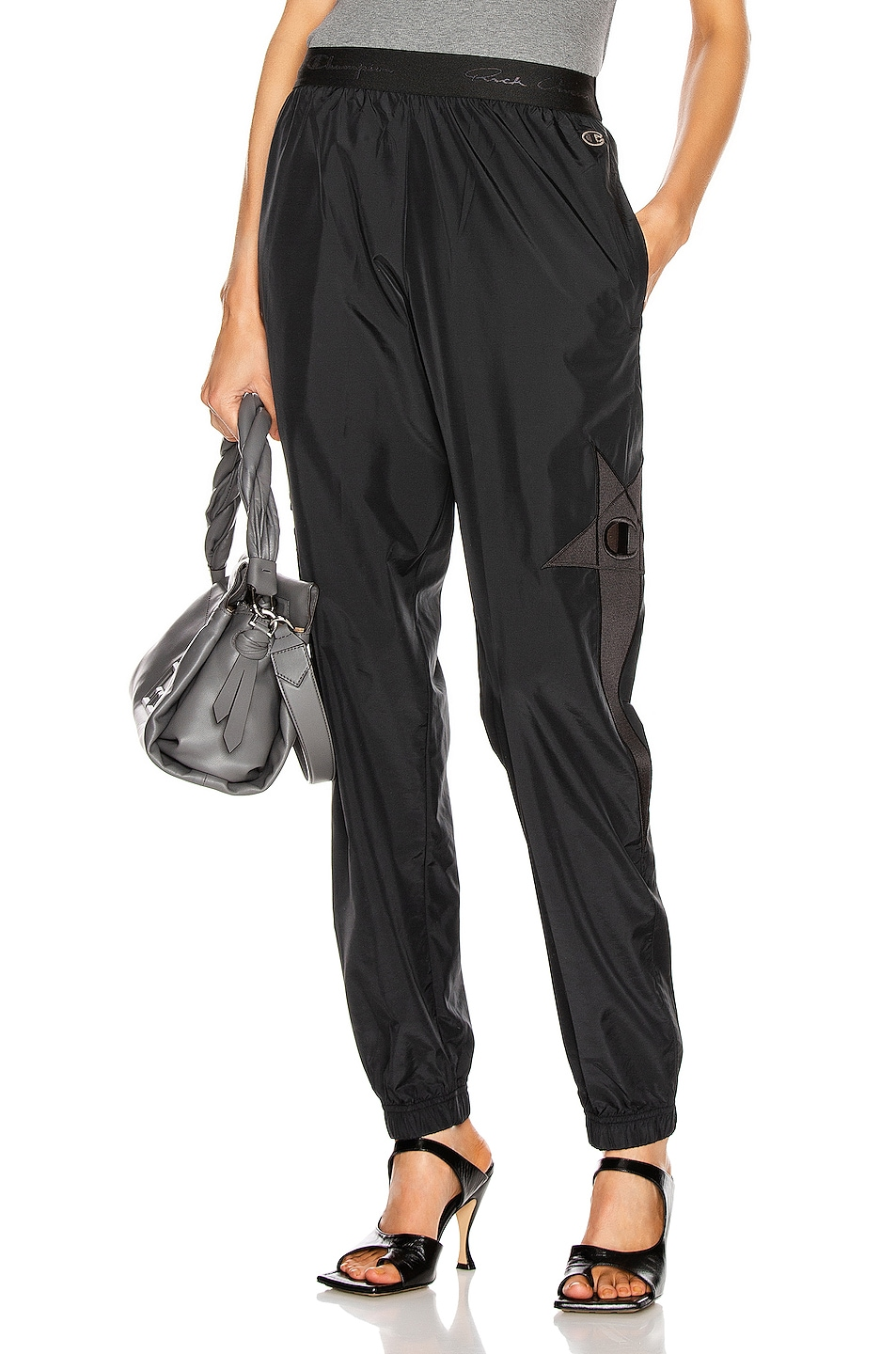 Image 1 of Rick Owens x Champion Light Nylon Track Pant in Black