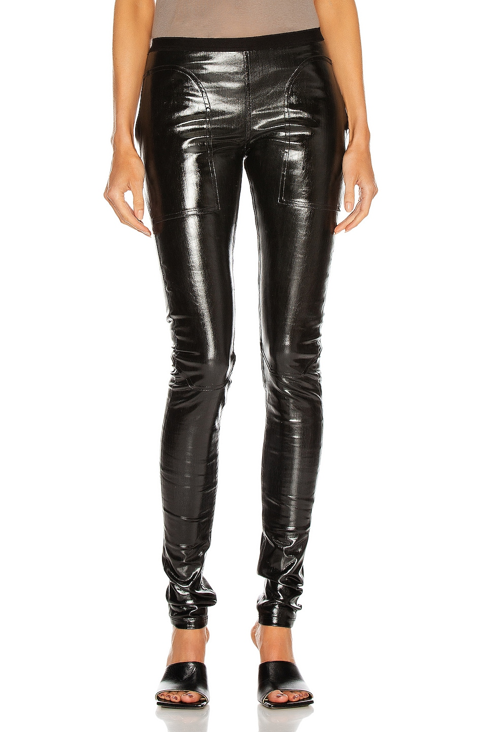 Image 1 of Rick Owens Denim Legging in Black