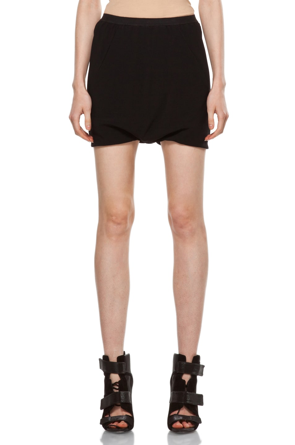Image 1 of Rick Owens Drape Skirt in Black