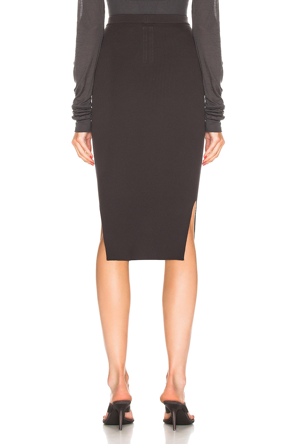 Image 3 of Rick Owens Ribbed Skirt in Blujay