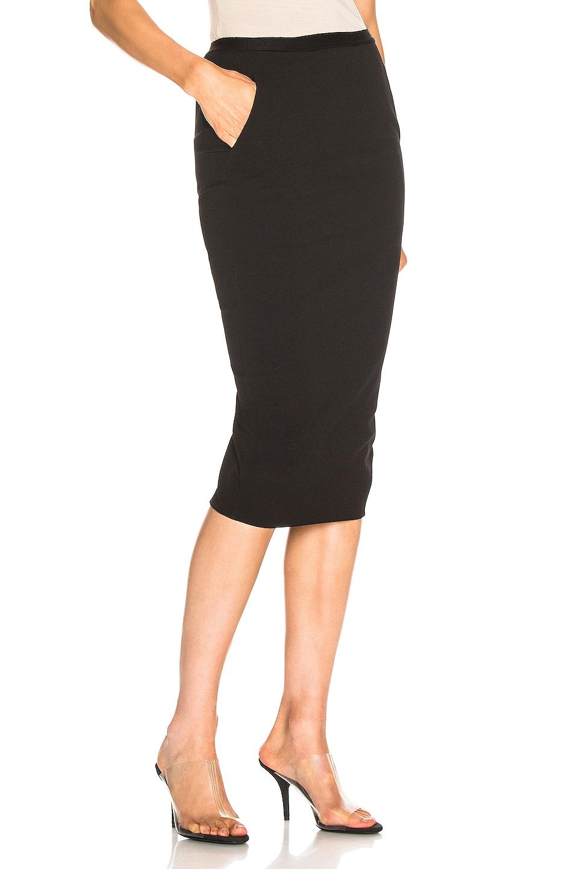 Image 2 of Rick Owens Soft Pillar Short Skirt in Black