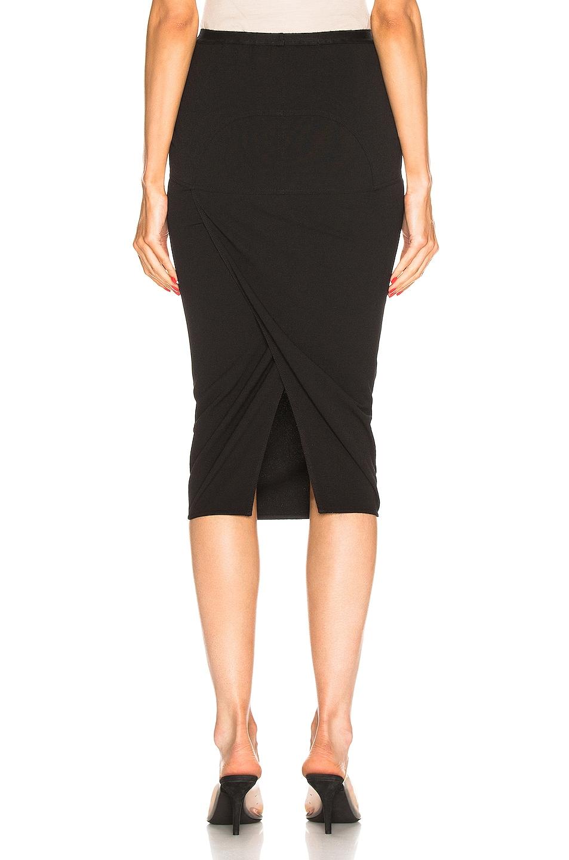 Image 3 of Rick Owens Soft Pillar Short Skirt in Black